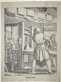 "Jacquardbild ""Buchdrucker"""